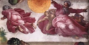 300px-Michelangelo,_Creation_of_the_Sun,_Moon,_and_Plants_01